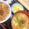 【グルメ】松屋の朝定食(ミニ牛丼+豚汁)✨