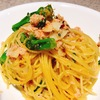 ずわい蟹と菜の花のペペロンチーノ