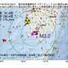 2017年10月16日 01時05分 鹿児島県薩摩地方でM3.2の地震