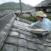 屋根の補修と屋内の解体