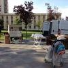 首都アンカラの公園に出現する無料「朝食配給車」(トルコ