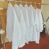 昨日からつけていた白い物の洗濯