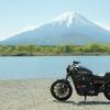 富士山とハーレー