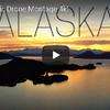 ドローンから見るアラスカの海と大地