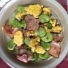初ブログ!そら豆とベーコンの炒め物
