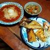 幸運な病のレシピ( 2271 )朝:ハリラスープ風、金目鯛干物、塩サバ、煮しめ・スパニッシュオムレツのザンパノ