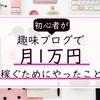 私がはてなブログで『月1万円』以上収益をあげるまでに実践したこと