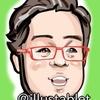 iPadproで描いた 落合福嗣さんの似顔絵と似顔絵が出来上がるまで。