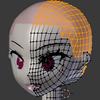 Blender備忘録15頁目「頭部のモデリング7」