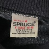 807 VINTAGE mayo spruce 60's BLACK PLAIN SWEAT