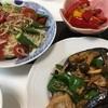 お米 7月1日夜ご飯(豚バラとナスとししとうの炒め物)