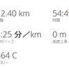 久々の10km走