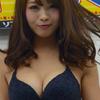 早瀬あや【B90 Fカップ元レースクイーンの水着画像】(2)