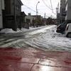土日に来た最強寒波のその後。新潟市中央区の様子。