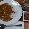 野菜カレーと納豆