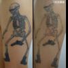 ガイコツ柄のタトゥー