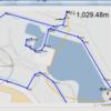 大域経路ファイルとウェイポイント番号の描画