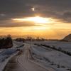 比布町から見た冬の大雪山そして最高の夕焼け空3連発【12月初旬に撮影】