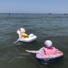 千葉・富浦・原岡海岸とホテル&リゾーツ 南房総 べた凪の海は小さな子供には最適だった