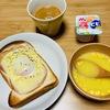 いつの日かの朝ごはん。朝はパン派です