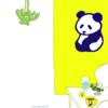 パンダの喫茶店「カフェ 群青パンダ」6  パンダのイラスト
