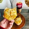 柿のクリームチーズマフィン。