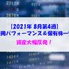 【株式】週間運用パフォーマンス&保有株一覧(2021.8.27時点) 資産大幅反発!