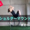 ポールダンスのベーシック技・ショルダーマウントの練習方法のポイント解説します。