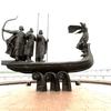 ウクライナ旅行[42](2019年5月)  キエフの観光スポット:キエフ創始者記念碑(ナヴォドニツキ公園)