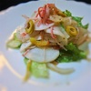 カブとカニカマのサラダ、ママレード風味