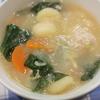 ポテトニョッキと鶏つみれで食べるミソスープ