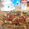 築地ペッパーズカフェでペッパーあしたばピザ