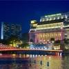 シンガポール街歩き#168(カベナ橋とフラトンホテルの夜景)