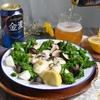 牡蠣と菜の花のフライパン蒸し #藍のある食卓