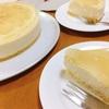 ピーチババロアのケーキ