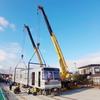 長野電鉄3000系2両が陸送で須坂へ