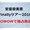 【まだ間に合う!?】安室奈美恵 ライブ2018を見るならWOWOWで!!限定商品プレゼントも!!