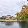 ナッシュビルのCentennial Parkのパルテノン神殿の中に入ってみた。紅葉の公園ものんびりした時間が過ぎていて良かったです。