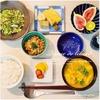 厚焼き玉子のシンプル和定食|大根葉と小松菜茎のちりめん山椒炒め+納豆&自家製調味料