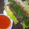 鰹のたたきのトマトソースディップ