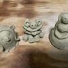今年はストレス発散に陶芸・・・というより、粘土いじり・・・。