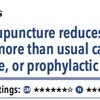 ACPJC:Therapeutics 鍼治療は通常治療やsham鍼、予防薬と比較して片頭痛の発作回数を減らす
