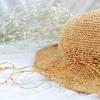 マニラヘンプレースで夏帽子を編みました