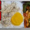 【昭和風の弁当】 豚ロース肉とピーマンのケチャップ炒めの弁当