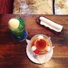 喫茶カンポスさんのプリンとクリームソーダ。