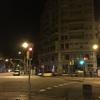 早朝のバルセロナ、空港へ移動