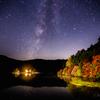 【天体撮影記 第76夜】 長野県 白駒池の紅葉の上に浮かぶ天の川を