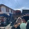 バンコク(メークロン鉄道市場と象乗り体験)