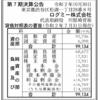 ログミー株式会社 第7期決算公告