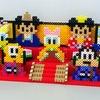 【アイロンビーズ3D】ミッキー&フレンズ、ひな人形(三段飾り)